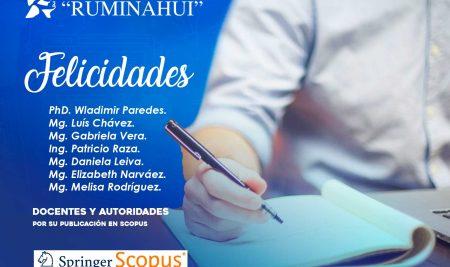 Autoridades y docentes del Instituto Superior Tecnológico Rumiñahui publican en SCOPUS